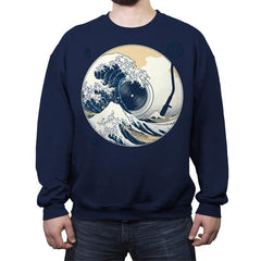 The Great Wave off Music - Crew Neck Sweatshirt - Crew Neck Sweatshirt - RIPT Apparel