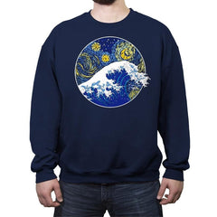Starry Wave - Crew Neck Sweatshirt - Crew Neck Sweatshirt - RIPT Apparel