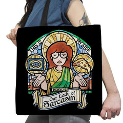 Our Lady of Sarcasm Exclusive - Tote Bag - Tote Bag - RIPT Apparel