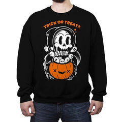 Death's Trick or Treat - Anytime - Crew Neck Sweatshirt - Crew Neck Sweatshirt - RIPT Apparel