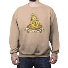In Pizza We Trust - Crew Neck Sweatshirt - Crew Neck Sweatshirt - RIPT Apparel