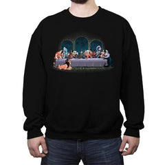Bad Dinner - Crew Neck Sweatshirt - Crew Neck Sweatshirt - RIPT Apparel
