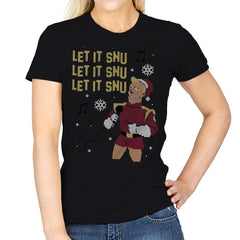 Let It Snu! - Ugly Holiday - Womens - T-Shirts - RIPT Apparel