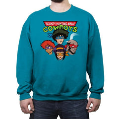Bounty Hunting Ninja Cowboys - Crew Neck Sweatshirt - Crew Neck Sweatshirt - RIPT Apparel