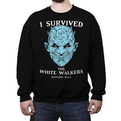 White Walker Survivor - Crew Neck Sweatshirt - Crew Neck Sweatshirt - RIPT Apparel