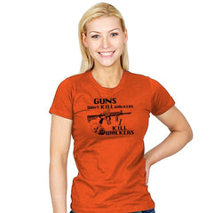 Guns Don't Kill Walkers - Womens - T-Shirts - RIPT Apparel