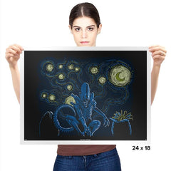 Starry Xenomorph - Prints - Posters - RIPT Apparel