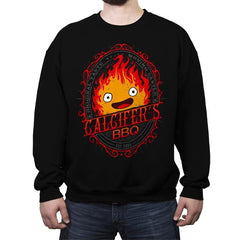 Calcifers BBQ - Crew Neck Sweatshirt - Crew Neck Sweatshirt - RIPT Apparel