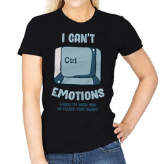 Can't Control Emotions - Womens - T-Shirts - RIPT Apparel