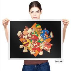Mighty Gaming Rangers - Prints - Posters - RIPT Apparel