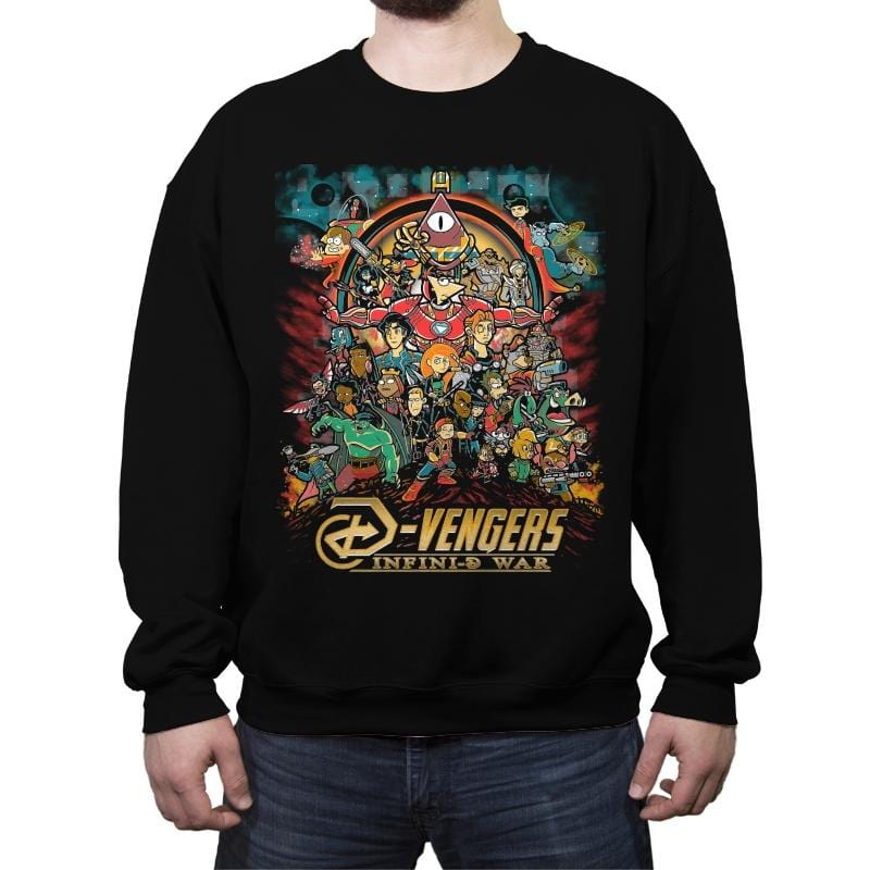 Infini-D War - Crew Neck Sweatshirt - Crew Neck Sweatshirt - RIPT Apparel