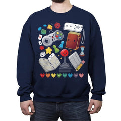 Game World - Crew Neck Sweatshirt - Crew Neck Sweatshirt - RIPT Apparel