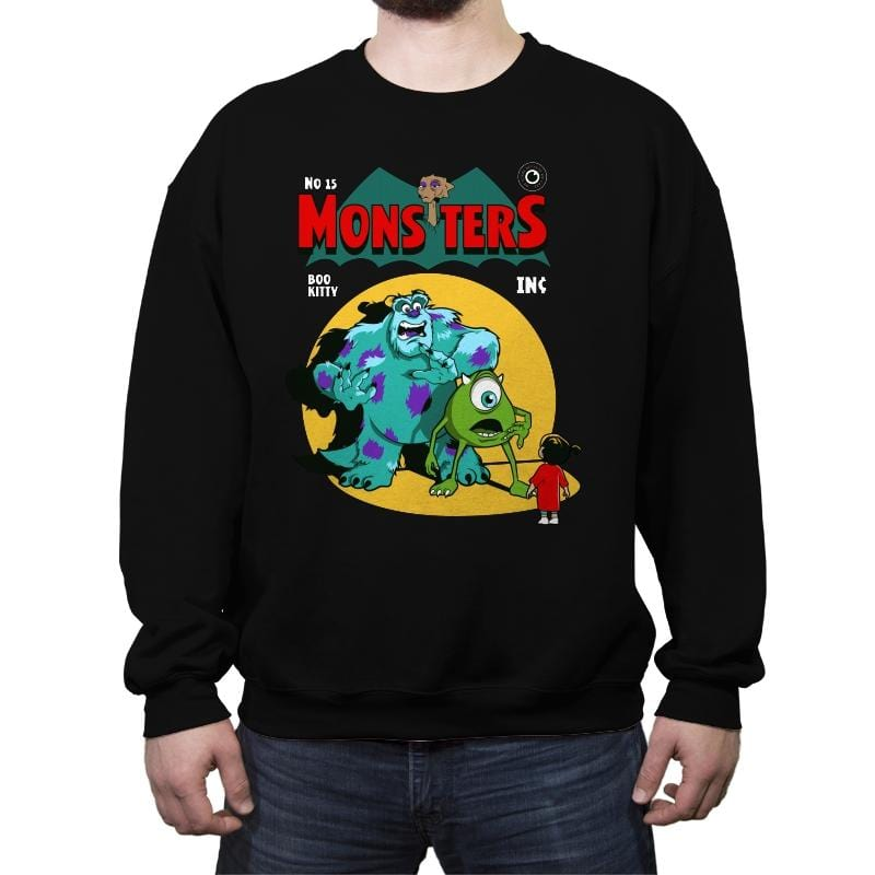 Monsters Comic - Crew Neck Sweatshirt - Crew Neck Sweatshirt - RIPT Apparel