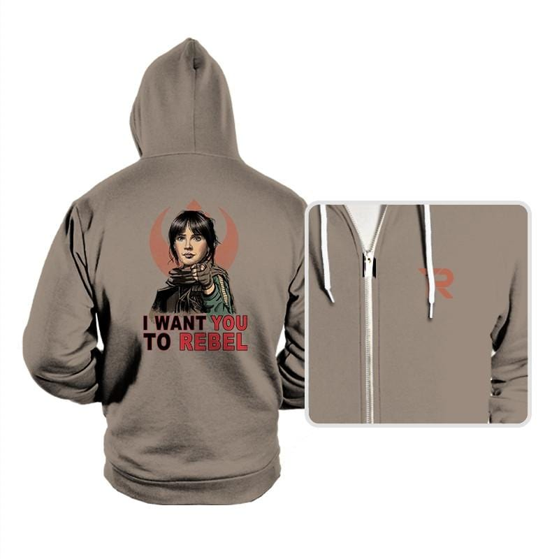 I Want You To Rebel - Hoodies - Hoodies - RIPT Apparel