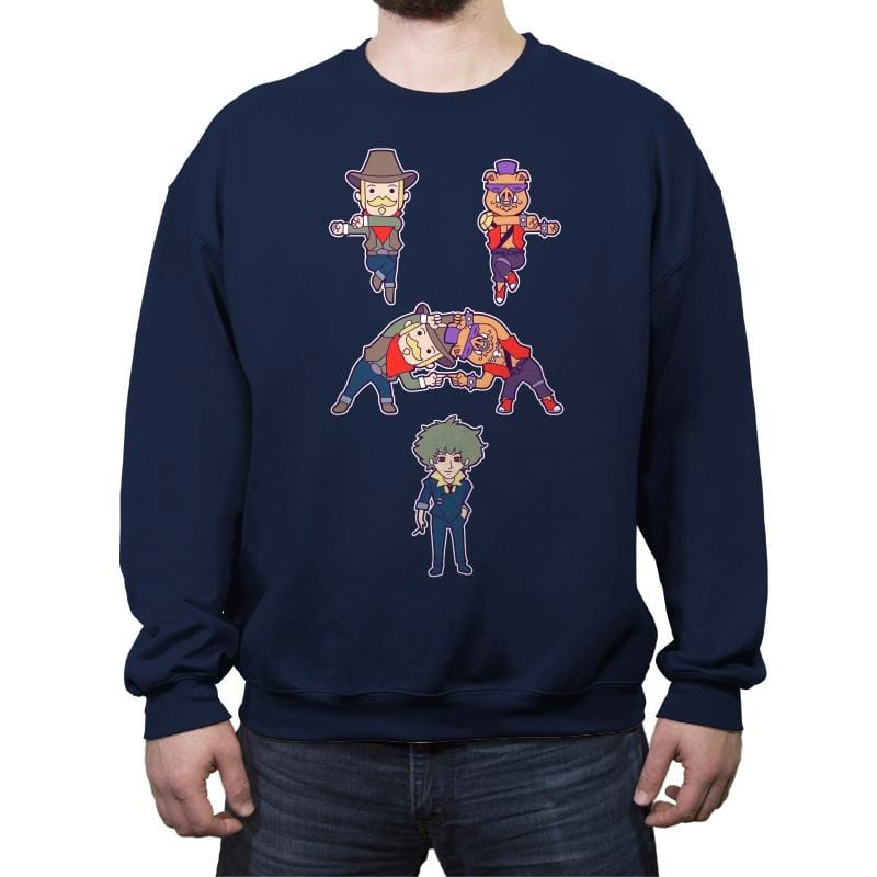 Cowboy + Bebop - Crew Neck Sweatshirt - Crew Neck Sweatshirt - RIPT Apparel