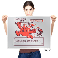 Koolmon Escaped! - Prints - Posters - RIPT Apparel