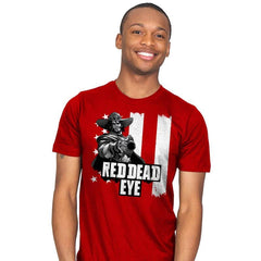 Red Dead Eye - Mens - T-Shirts - RIPT Apparel