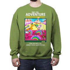 Time for Adventure - Crew Neck Sweatshirt - Crew Neck Sweatshirt - RIPT Apparel