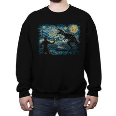 Jurassic Night - Crew Neck Sweatshirt - Crew Neck Sweatshirt - RIPT Apparel