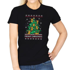 Meowy christmas - Ugly holiday - Womens - T-Shirts - RIPT Apparel