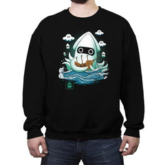 Blooper Kaiju - Crew Neck Sweatshirt - Crew Neck Sweatshirt - RIPT Apparel