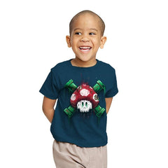 Mushroom Skull - Youth - T-Shirts - RIPT Apparel