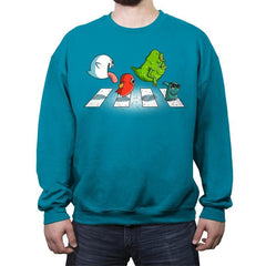 Ghosts on Abbey Road - Crew Neck Sweatshirt - Crew Neck Sweatshirt - RIPT Apparel
