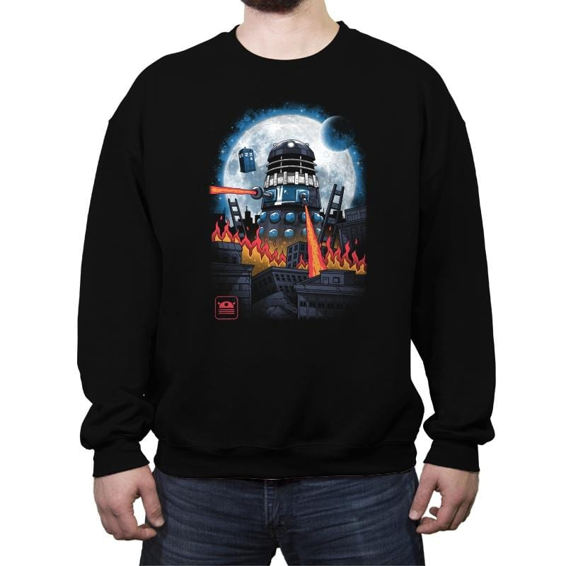 Dalek Kaiju - Crew Neck Sweatshirt - Crew Neck Sweatshirt - RIPT Apparel