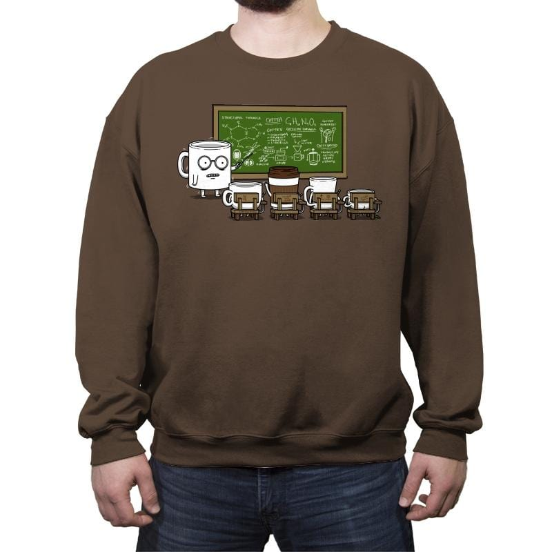 Coffee Lessons - Crew Neck Sweatshirt - Crew Neck Sweatshirt - RIPT Apparel