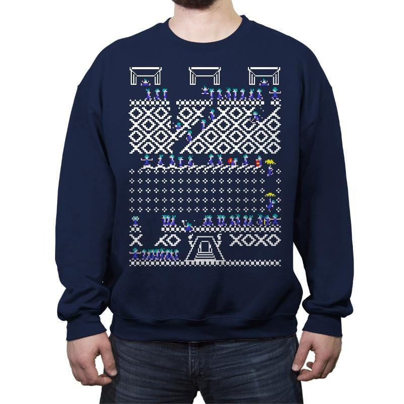 Oh No! Its Christmas! - Ugly Holiday - Crew Neck Sweatshirt - Crew Neck Sweatshirt - RIPT Apparel
