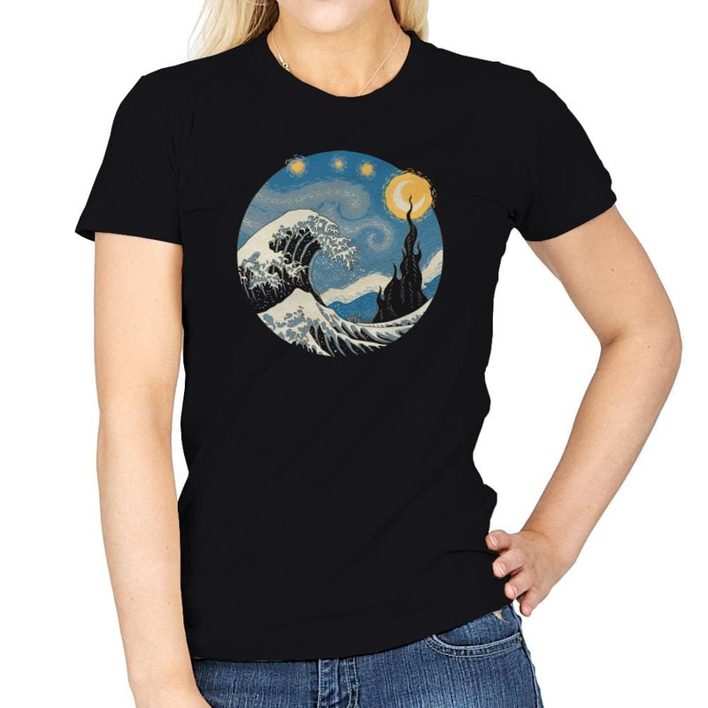 The Great Starry Wave - Womens - T-Shirts - RIPT Apparel