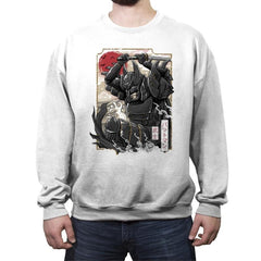 Dark Samurai Knight - Crew Neck Sweatshirt - Crew Neck Sweatshirt - RIPT Apparel