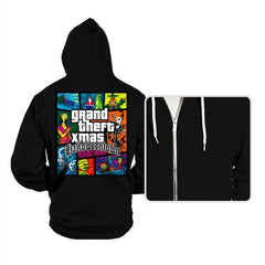 Grand Theft Xmas: Halloweentown - Hoodies - Hoodies - RIPT Apparel