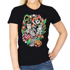Floral Skull - Womens - T-Shirts - RIPT Apparel