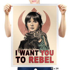 I Want You To Rebel - Prints - Posters - RIPT Apparel