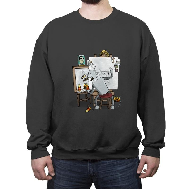 Bender Self Portrait - Crew Neck Sweatshirt - Crew Neck Sweatshirt - RIPT Apparel