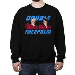 Double Facepalm - Crew Neck Sweatshirt - Crew Neck Sweatshirt - RIPT Apparel