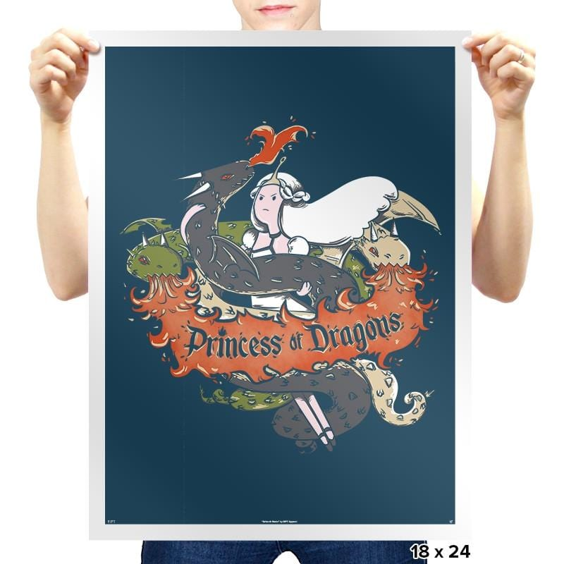 Princess of Dragons Exclusive - Prints - Posters - RIPT Apparel