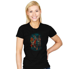 The Walking Caped Crusaders Reprint - Womens - T-Shirts - RIPT Apparel
