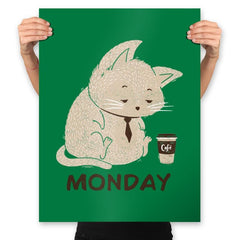 Monday Cat - Prints - Posters - RIPT Apparel