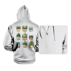 Succulents Kawaii - Hoodies - Hoodies - RIPT Apparel