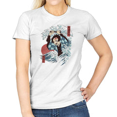 Demons Slayer Ukiyo E - Womens - T-Shirts - RIPT Apparel