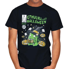 Cthulhu Likes Halloween - Anytime - Mens - T-Shirts - RIPT Apparel