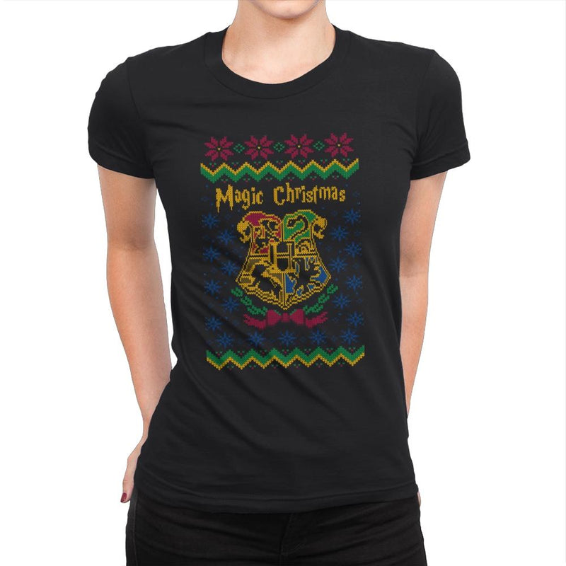 Magical Christmas - Ugly Holiday - Womens Premium - T-Shirts - RIPT Apparel