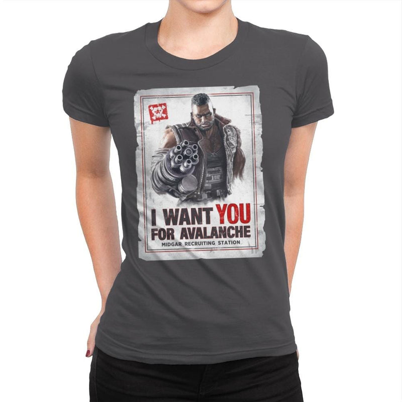 Avalanche Needs You - Womens Premium - T-Shirts - RIPT Apparel