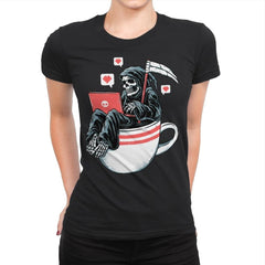 Love Death and Coffee - Womens Premium - T-Shirts - RIPT Apparel