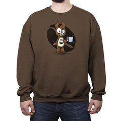 Caffeine Bear - Crew Neck Sweatshirt - Crew Neck Sweatshirt - RIPT Apparel