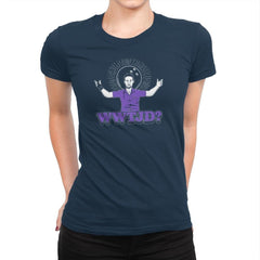 WWTJD? Exclusive - Womens Premium - T-Shirts - RIPT Apparel