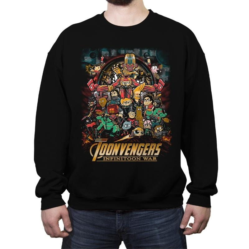 Infinitoon War - Crew Neck Sweatshirt - Crew Neck Sweatshirt - RIPT Apparel