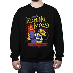 Flaming Moe - Crew Neck Sweatshirt - Crew Neck Sweatshirt - RIPT Apparel
